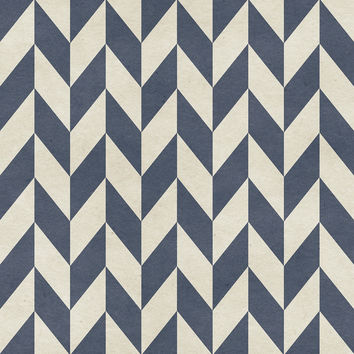 Sailor Chevron Removable Wallpaper