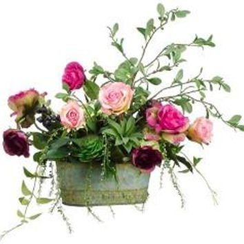 Rose Rustic Cottage Chic Home Decor Centerpiece