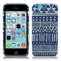 iPhone 5c Cool Blue Mint Tribal Design TPU Silicone Phone Case by ThePhoneCovers