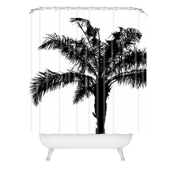 Deb Haugen B And W Square Shower Curtain