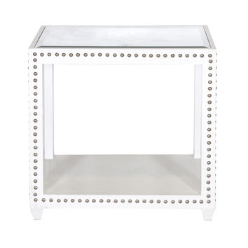 OLIVIA WHITE BED SIDE TABLE