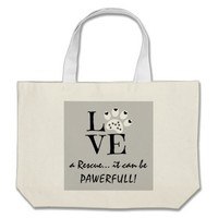 Animal Rescue, it can be PAWERFULL! Jumbo Tote Bag
