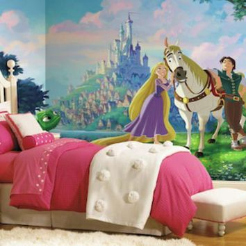 Disney Princess Tangled Xl 7 Piece Mural Wall Decal | Null
