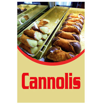 Cannolis Retail Store Bakery Food Sign