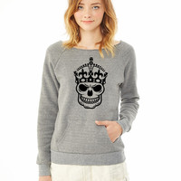 Keep Calm Skull Crown ladies sweatshirt