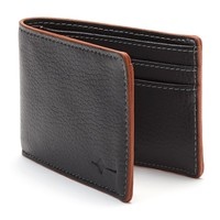 Buxton Tumbled-Leather Rfid-Blocking Front-Pocket Slimfold Wallet