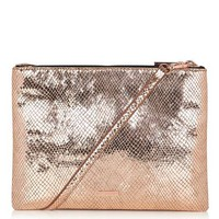 **Rose Gold Duo Crossbody Bag by Skinnydip
