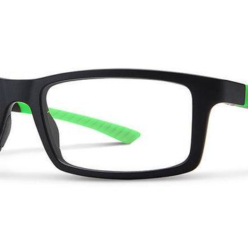 Smith Optics - Paramount 53mm Matte Black Green Eyeglasses / Demo Lenses