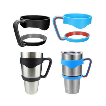 Portable Plastic Black Water Bottle Mugs Cup Handle For YETI 30 Ounce Tumbler Rambler Cup Hand Holder Fit Travel Drinkware