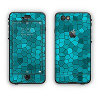 The Abstract Blue Tiled Apple iPhone 6 LifeProof Nuud Case Skin Set