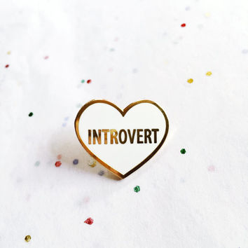 Introvert Hard Enamel Cloisonné Lapel Pin