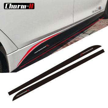 5D Carbon Fibre Vinyl 2017 New M Performance sticker for BMW 3 5 Series F30/10 f01 f02 320i 520i E60 F22 F23 Side Skirt Decals