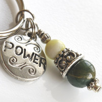 STOCKING STUFFER - Power Charm and Gemstone Pendant Key Chain