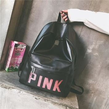 Back To School Comfort College On Sale Hot Deal Ladies Korean Stylish Casual Gym Backpack [415606505508]