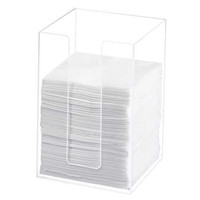 5.5W x 5.5D x 8H Classic Clear Beverage Napkin Holder