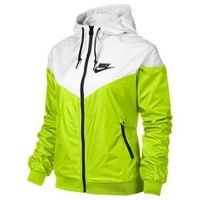 Nike Women's Windrunner Running Jacket, Volt/White/Black, Small