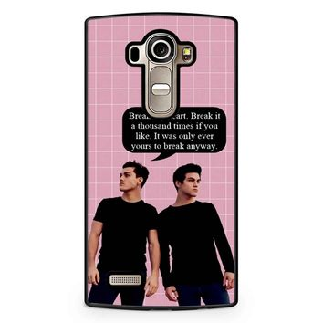 Dolan Twins Quotes Ethan Grayson LG G4 Case