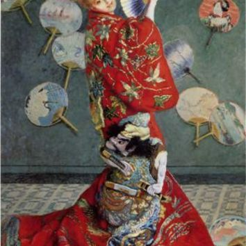 Free shipping Claude Monet Canvas Painting Woman wearing classical costume dance Home decor canvas art wall pictures No Frame