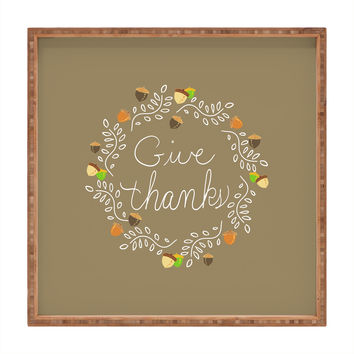 Lisa Argyropoulos Giving Thanks Square Tray