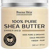 PURE Shea Butter by Buena Skin | Organic Cold-Pressed, Raw, Unrefined, Great To Use Alone or DIY...