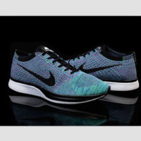 NIKE woven casual shoes light running shoes Color blue