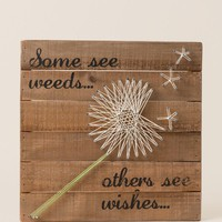 Wishes String Art Wall Decor