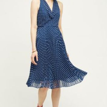 Eva Franco Dabney Midi Dress in Navy Size: