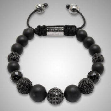 African black Ball Beads Shamballa Bracelets for Women Men Personalized Shamballa Jewelry NY-B-488