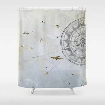 Losing Direction Shower Curtain by Anipani