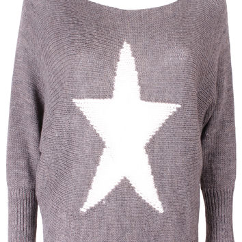 Brown Star Jumper