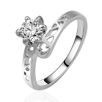 R001 Engagement Wedding Rings Fashion Jewelry Anillos Anel Finger Ring Zircon Stone Bijoux