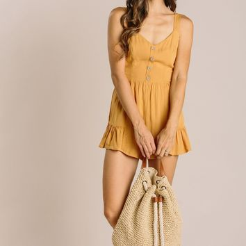 Paula Tie Back Button Romper