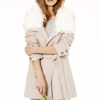 Somedays Lovin' Almond Bluff Blush Wrap Coat