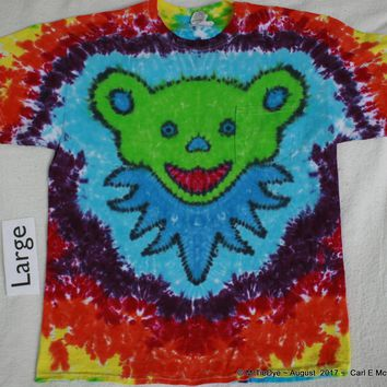 Adult Large Tie-Dye Jerry Bear Pocket tee