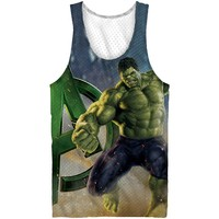 Marvel Avengers Hulk Mesh Tank Top - Boys