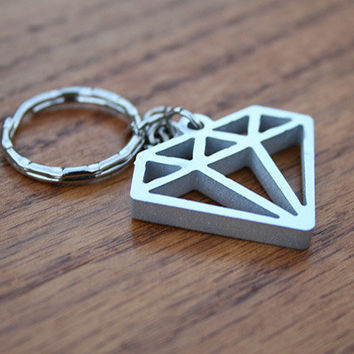 Diamond in the Rough - Metal Keychain