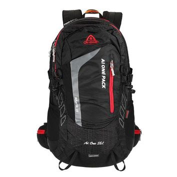 DCCK7N3 38L Outdoor Sports Backpack Traveling Hiking Camping Trekking Backpack Climbing Rucksack Internal Frame Bag with Rain Cover