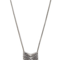 FOREVER 21 Longline Cutout Chevron Necklace Burn.S One
