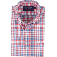 The Poe Button Down Shirt Red/White/Blue