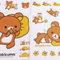 Rilakkuma Relax Bear Mini Sticker Sheet (Your Choice of Design)~KAWAII!!