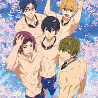 Free! Group Sakura Pool Wall Scroll