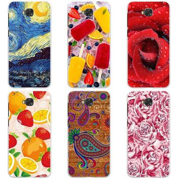 Luxury Printing Case For BQ Aquaris U2 U 2 Lite Art Print Flower Cell Phone Cover Rose Funda Cute Animal Soft Coque
