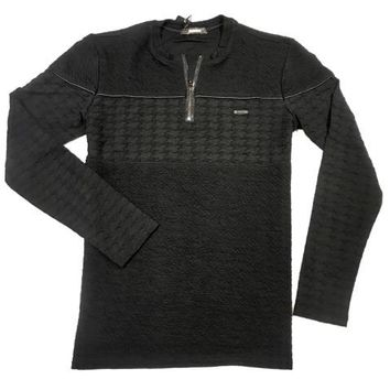 Mondo Men`s Black half Zip Sweaters