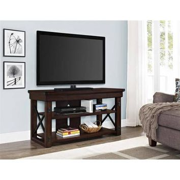 "Better Homes and Gardens Dark Oak Preston Park Rustic TV Stand for TVs up to 50"" - Walmart.com"