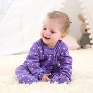Christmas 2017 baby girl clothes ,Microfleece one pieces baby jumpsuits soft Pajamas , 0-24M baby clothing baby costumes romper