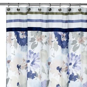 Croscill® WaterColor Fabric Shower Curtain