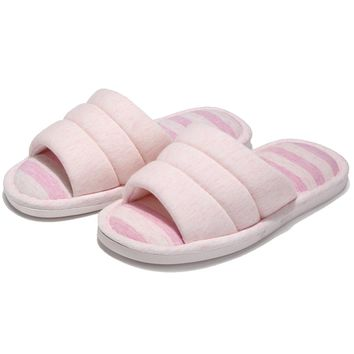 Women Men House Slippers indoor outdoor Knitted Cotton Non-Slip Sole Washable Lightweight Home Shoes