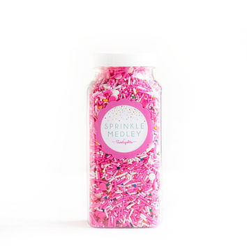 Circus Cookie Sprinkle Medley, Vegan, Gluten-Free, Sprinkle Mix, Pink Sprinkles, Animal Cracker, Colorful Sprinkles -- MED (8 oz)