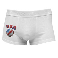 Soccer Ball Flag - USA Side Printed Mens Trunk Underwear