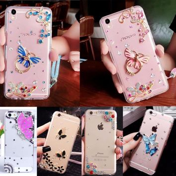 Glitter Crystal Rhinestone Case Cover For iPhone 4/4S,TPU+PC Acrylic DIY Unique Diamond Protective Shiny mobile phone shell